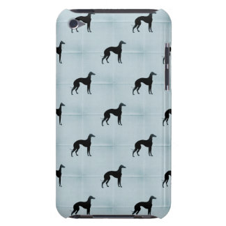 Greyhound Silhouettes Blue Tile Pattern iPod Touch Covers