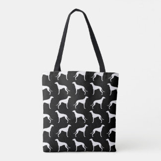 Greyhound Silhouettes Pattern Tote Bag