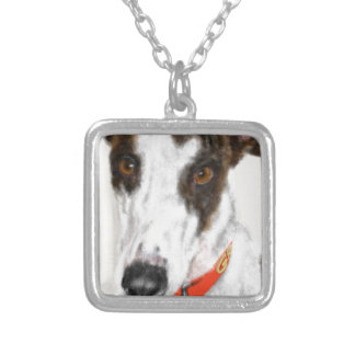 Greyhound Silver Plated Necklace