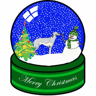 greyhound snow globe photo cut outs