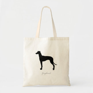 Greyhound Tote Bag (black silhouette)