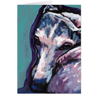 greyhound whippet dog pop art card