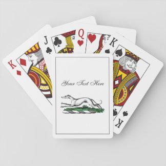 Greyhound Whippet Running Heraldic Crest Emblem Playing Cards