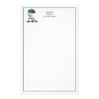 Greyhound Whippet With Tree Heraldic Crest Emblem Stationery