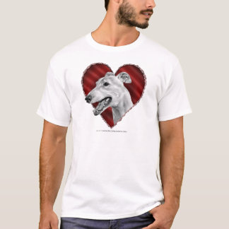 Greyhound with Heart T-Shirt