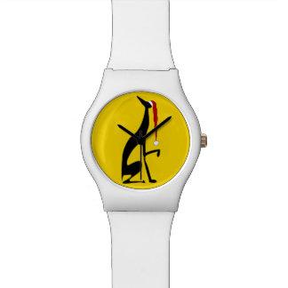 Greyhound Yellow Bold Graceful Black Dog Christmas Watch