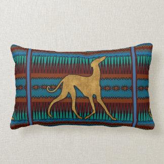 Greyhounds of Azawakh (blue) Lumbar Pillow