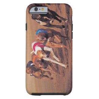 Greyhounds racing on track tough iPhone 6 case
