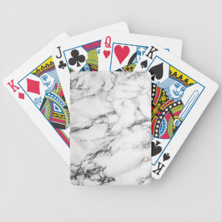 Greyish White Marble Bicycle Playing Cards