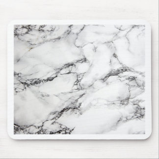 Greyish White Marble Mouse Pad