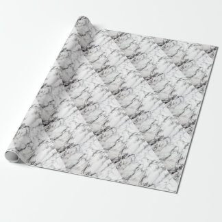 Greyish White Marble Wrapping Paper