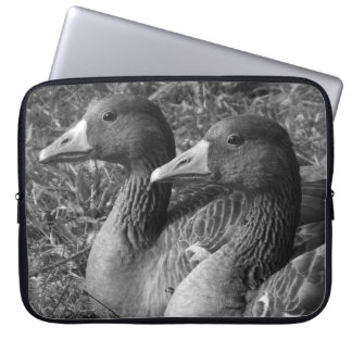Greylag Geese (B&W) Computer Sleeve