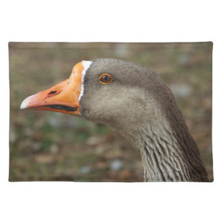 Greylag Swan Goose Cross Place Mat