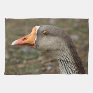 Greylag Swan Goose Cross Towel
