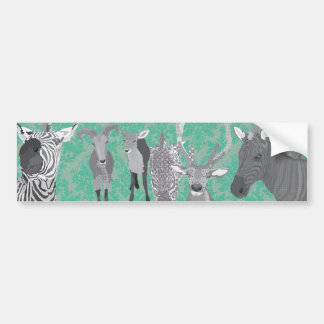 Grey's Grey Animals Bumper Sticker Car Bumper Sticker