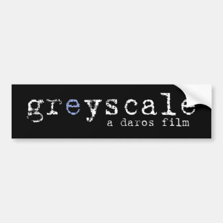 Greyscale Bumper Sticker - Plain Black
