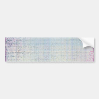 grid10 GRID GRUNGE VINES PURPLES LIGHT PINK BLUE B Bumper Stickers