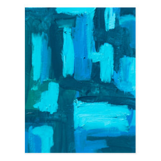 Grid Abstract Painterly Acrylic Postcard