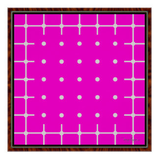 Grid and Dots Becoming Green Posters