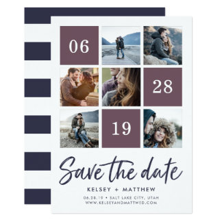 Grid Collage | Photo Save the Date Card