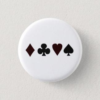Grid Dot Vintage Card Suits 3 Cm Round Badge