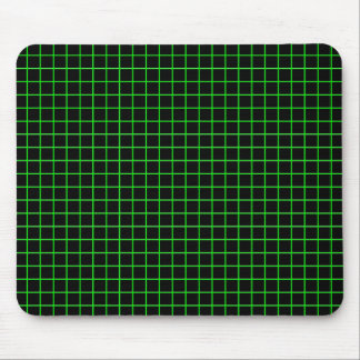 grid green mouse pad