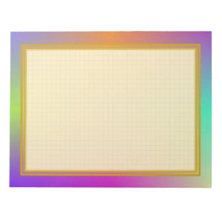 Grid Lined Colourful Metallic 8.5x11 Note Pad