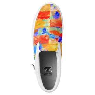 Grid Multicolored Unisex Slip On sneakers