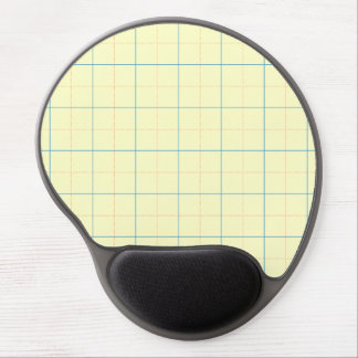 grid pattern blue line red dots gel mouse pad