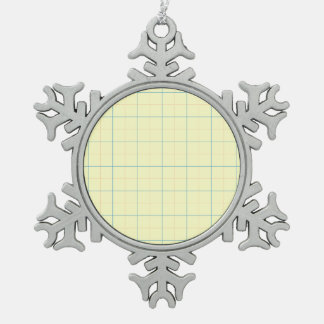 grid pattern blue line red dots pewter snowflake decoration