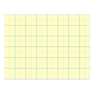 grid pattern blue line red dots postcard
