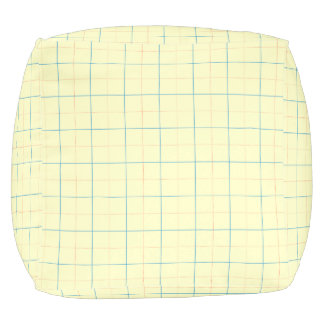 grid pattern blue line red dots pouf