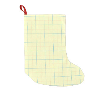 grid pattern blue line red dots small christmas stocking