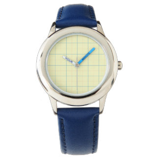 grid pattern blue line red dots watch