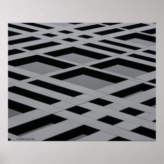 Grid Pattern of Industrial Beams Poster