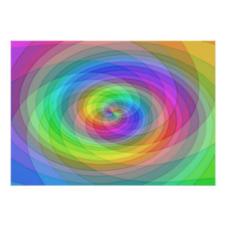 Grid rainbow poster