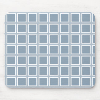 Grid Slate and White Mouse Pad