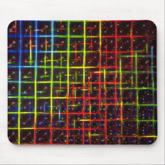 Grid texture mouse pad