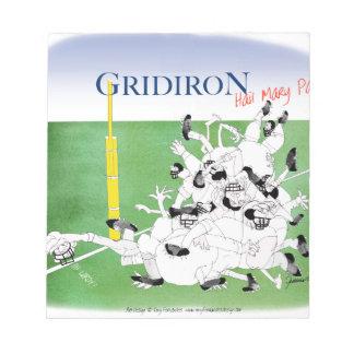 Gridiron -'hail mary pass', tony fernandes notepad