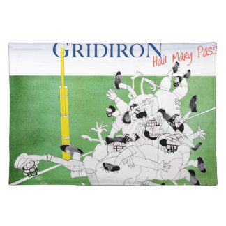 Gridiron -'hail mary pass', tony fernandes placemat