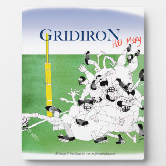 Gridiron -'hail mary pass', tony fernandes plaque