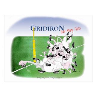 Gridiron -'hail mary pass', tony fernandes postcard
