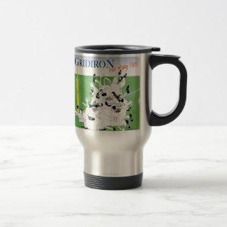 Gridiron -'hail mary pass', tony fernandes travel mug