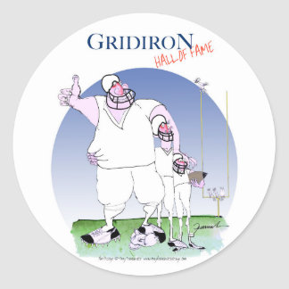 Gridiron - hall of fame, tony fernandes classic round sticker