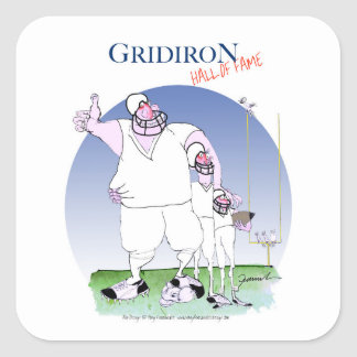 Gridiron - hall of fame, tony fernandes square sticker