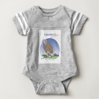 Gridiron - kicked in the grass, tony fernandes baby bodysuit
