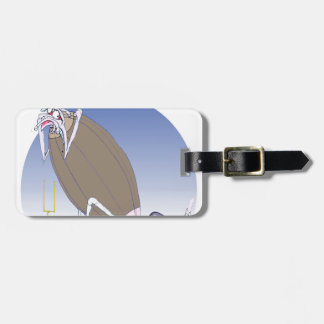 Gridiron kicked in the grass, tony fernandes luggage tag