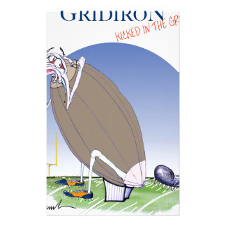 Gridiron kicked in the grass, tony fernandes stationery