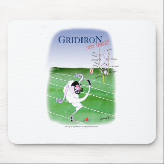 Gridiron  stay focused, tony fernandes mouse pad