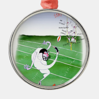 Gridiron - stay focused, tony fernandes Silver-Colored round decoration